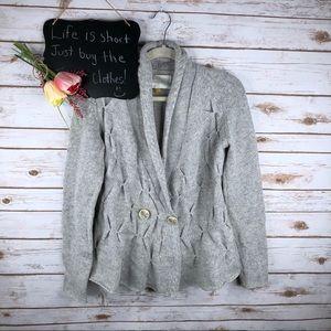 Anthropologie Leifsdottir textured wool blend